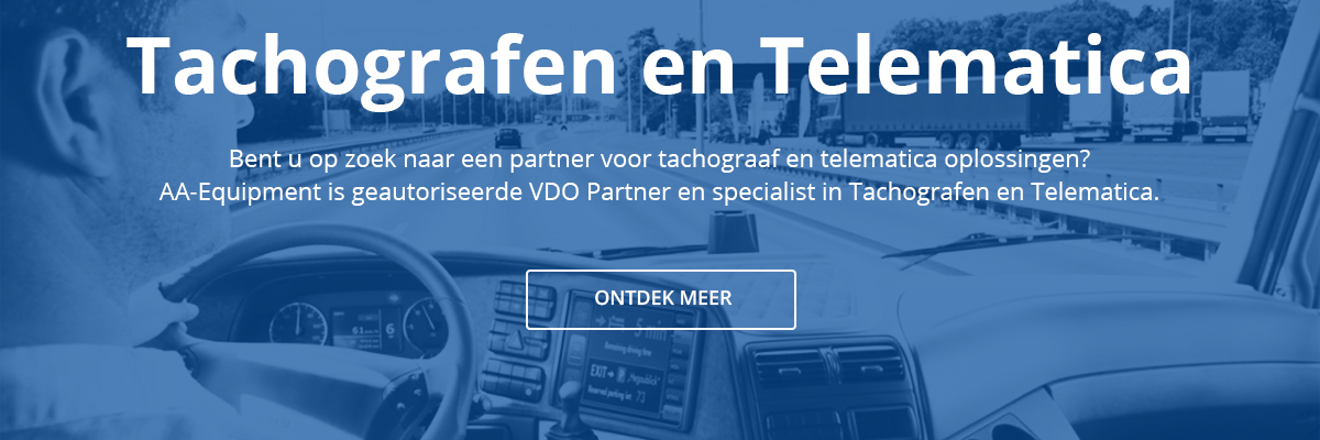 VDO Tachografen en Telematica banner website AA Equipment