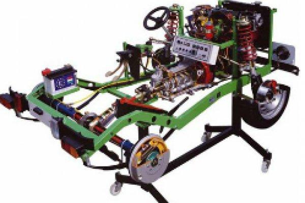 Fiat onderstel compleet met motor en verlichting - AA-Equipment
