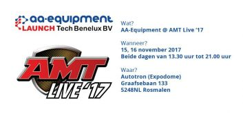 AA-Equipment @ AMT Live '17 op 15 en 16 november 2017
