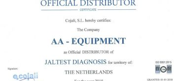 Officieel distributeur Jaltest Diagnostics 2018